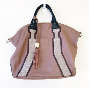 Vince Camuto Leather Hobo Crossbody Tote Large